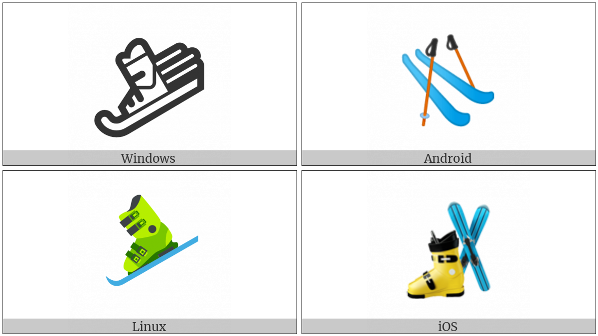 Ski And Ski Boot on various operating systems