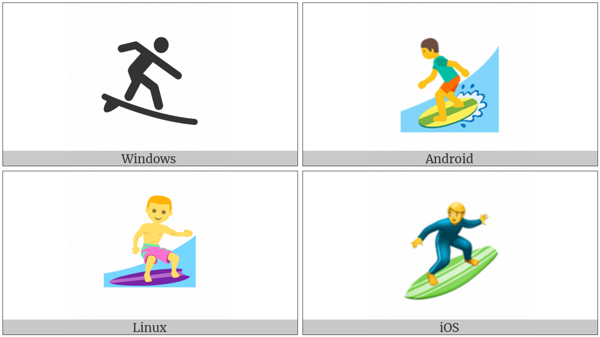 Surfer on various operating systems