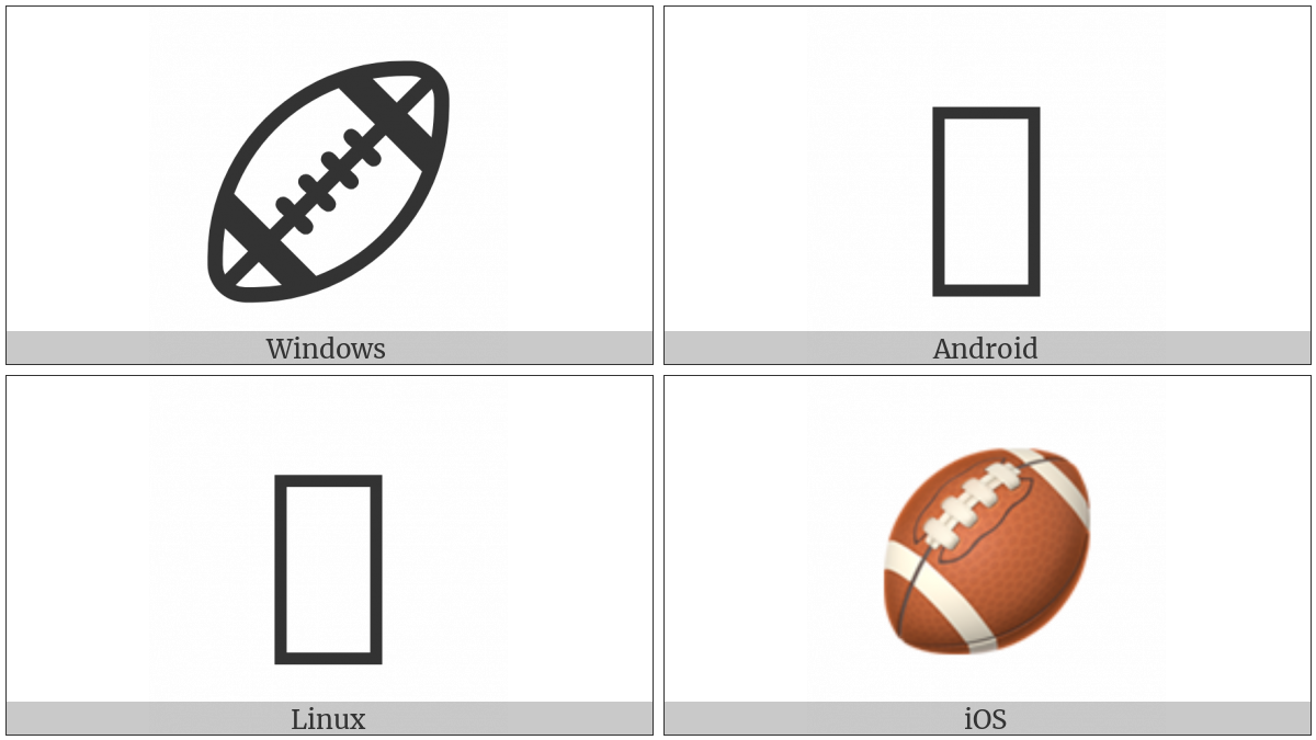 American Football on various operating systems