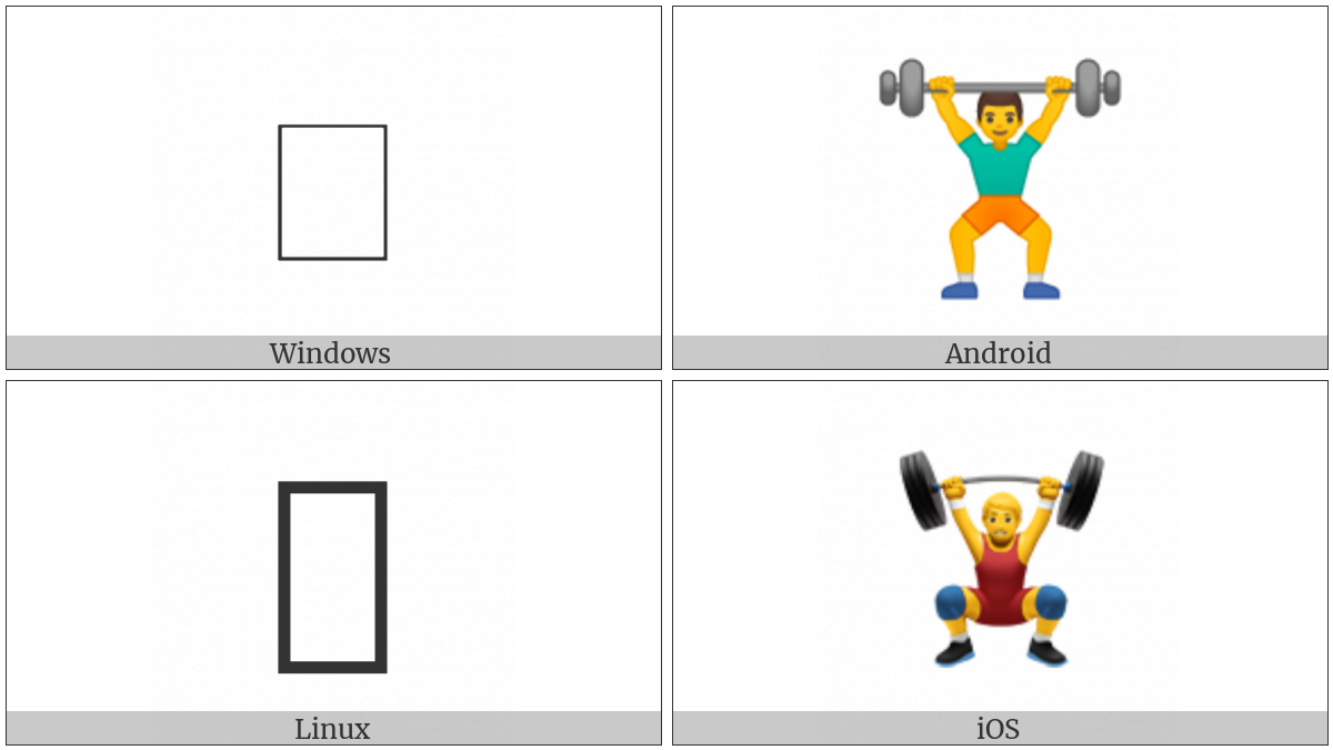 Weight Lifter on various operating systems