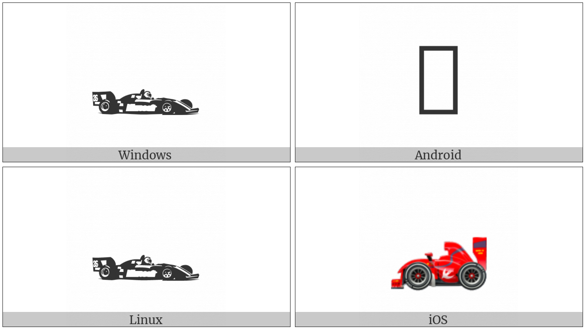 Racing Car on various operating systems