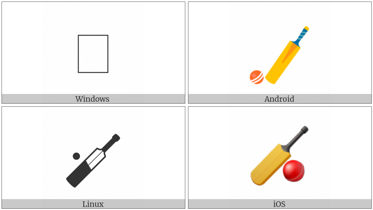Cricket Bat And Ball on various operating systems