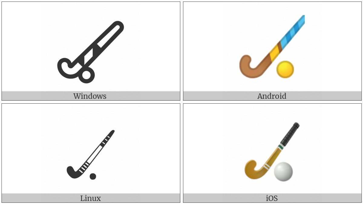 Field Hockey Stick And Ball on various operating systems