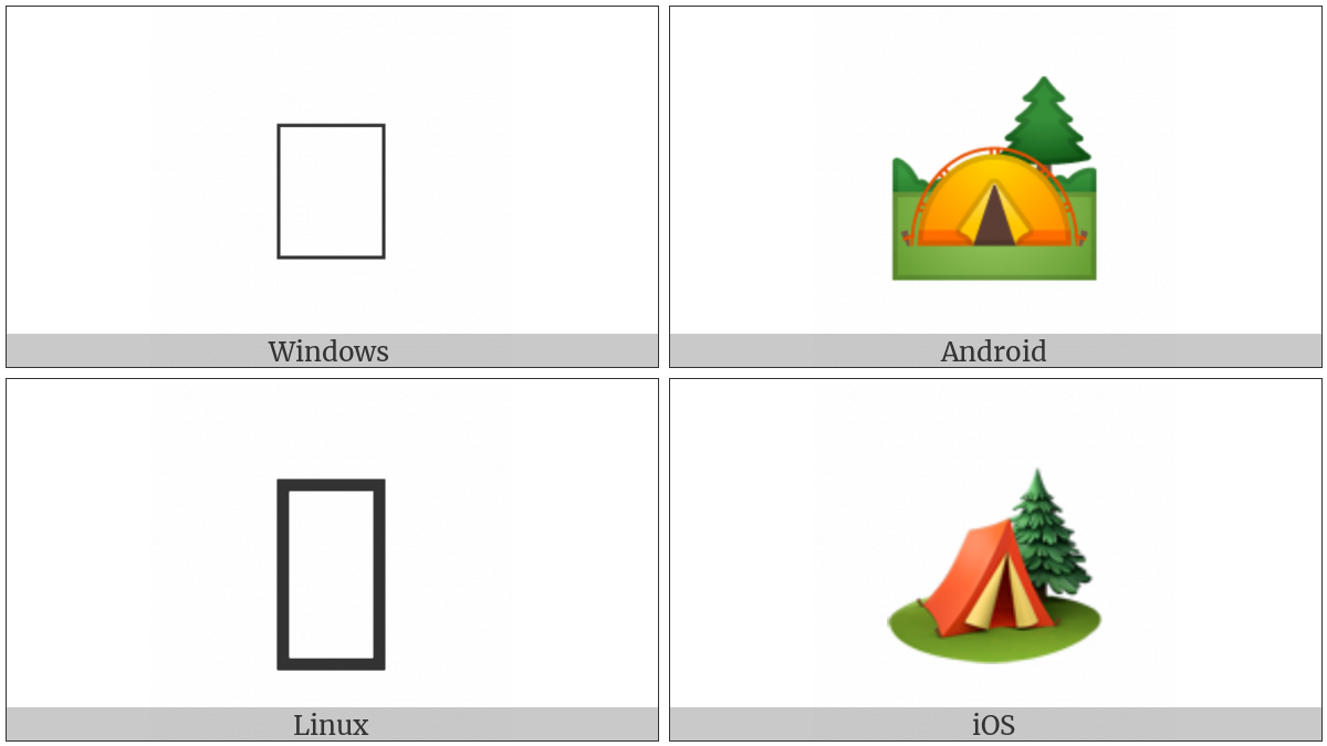 Camping on various operating systems