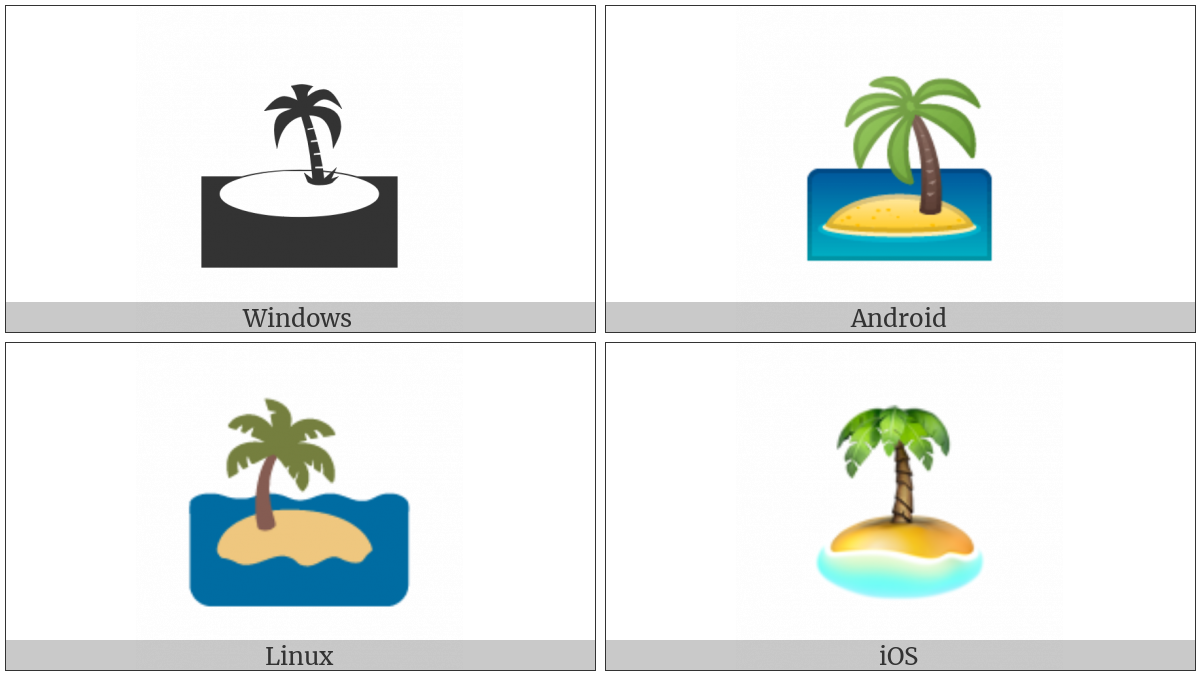 Desert Island on various operating systems