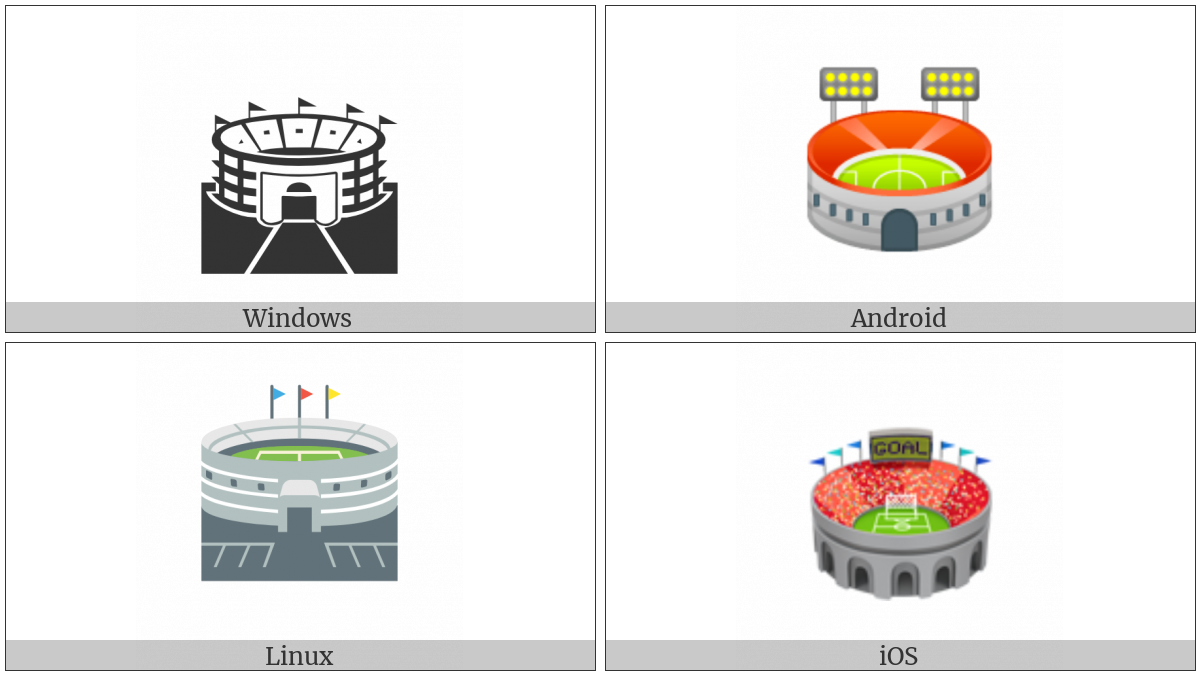 Stadium on various operating systems