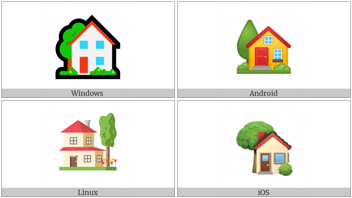 House With Garden on various operating systems