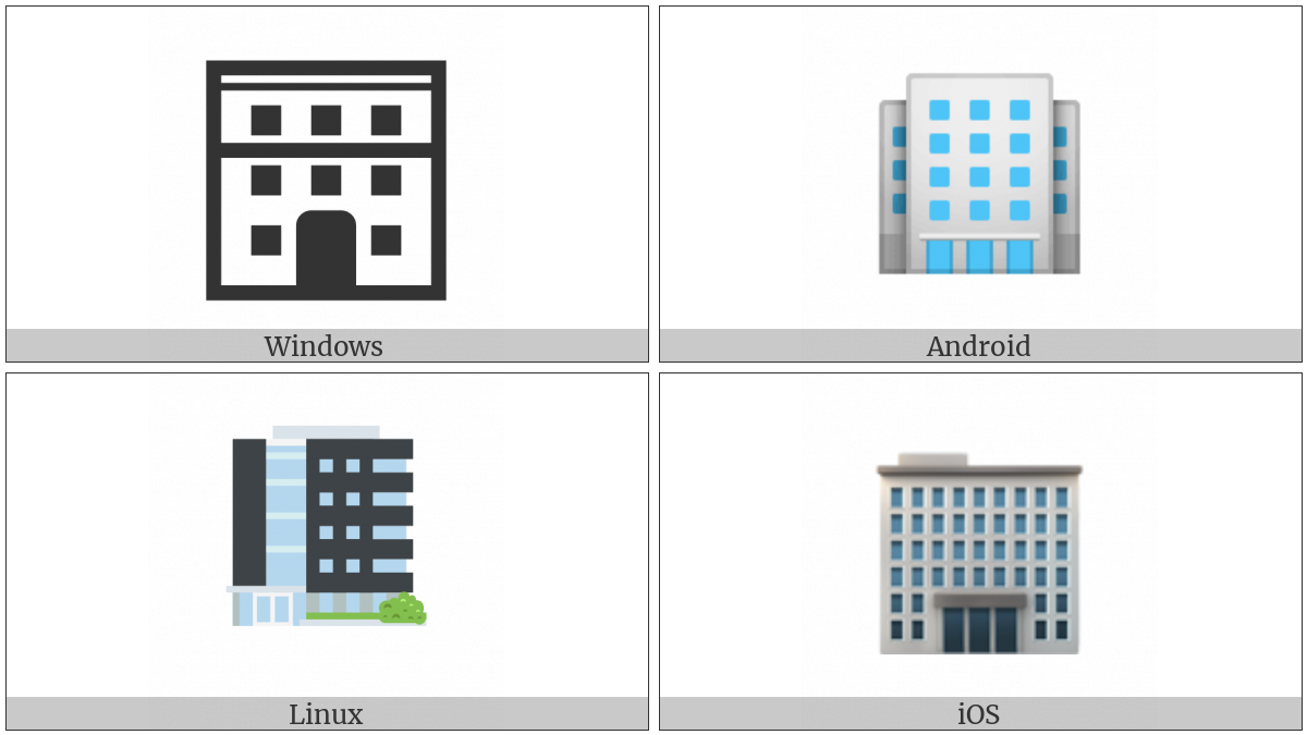 Office Building on various operating systems