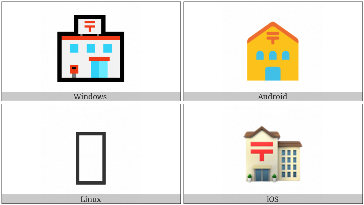 Japanese Post Office on various operating systems