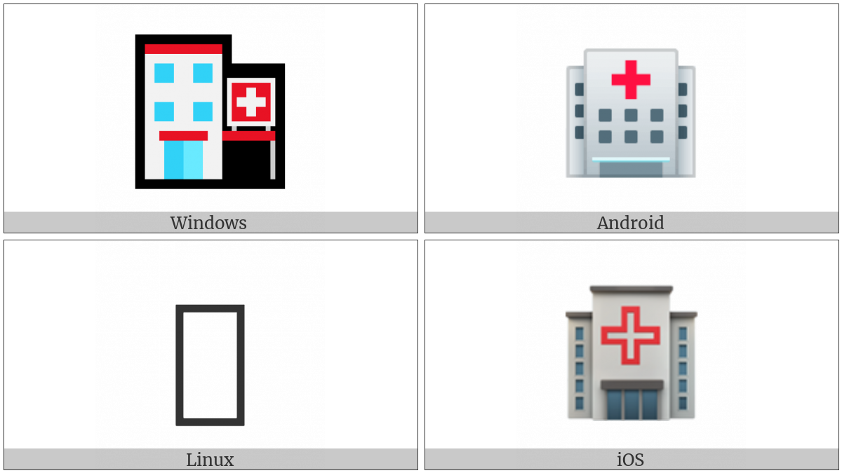 Hospital on various operating systems