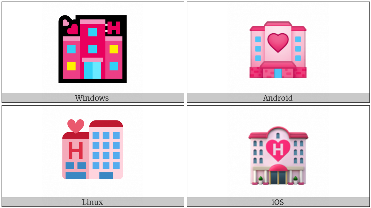 Love Hotel on various operating systems