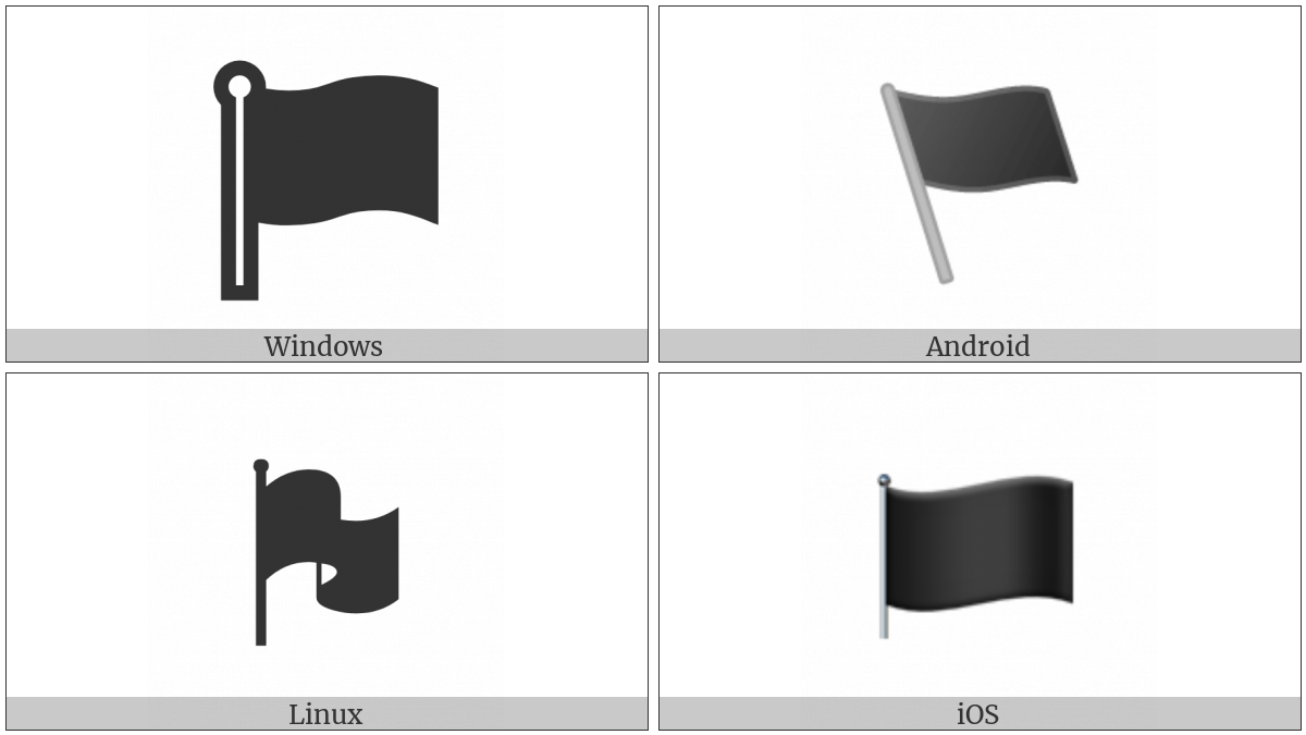 Waving Black Flag on various operating systems