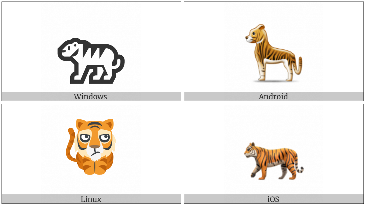 Tiger on various operating systems