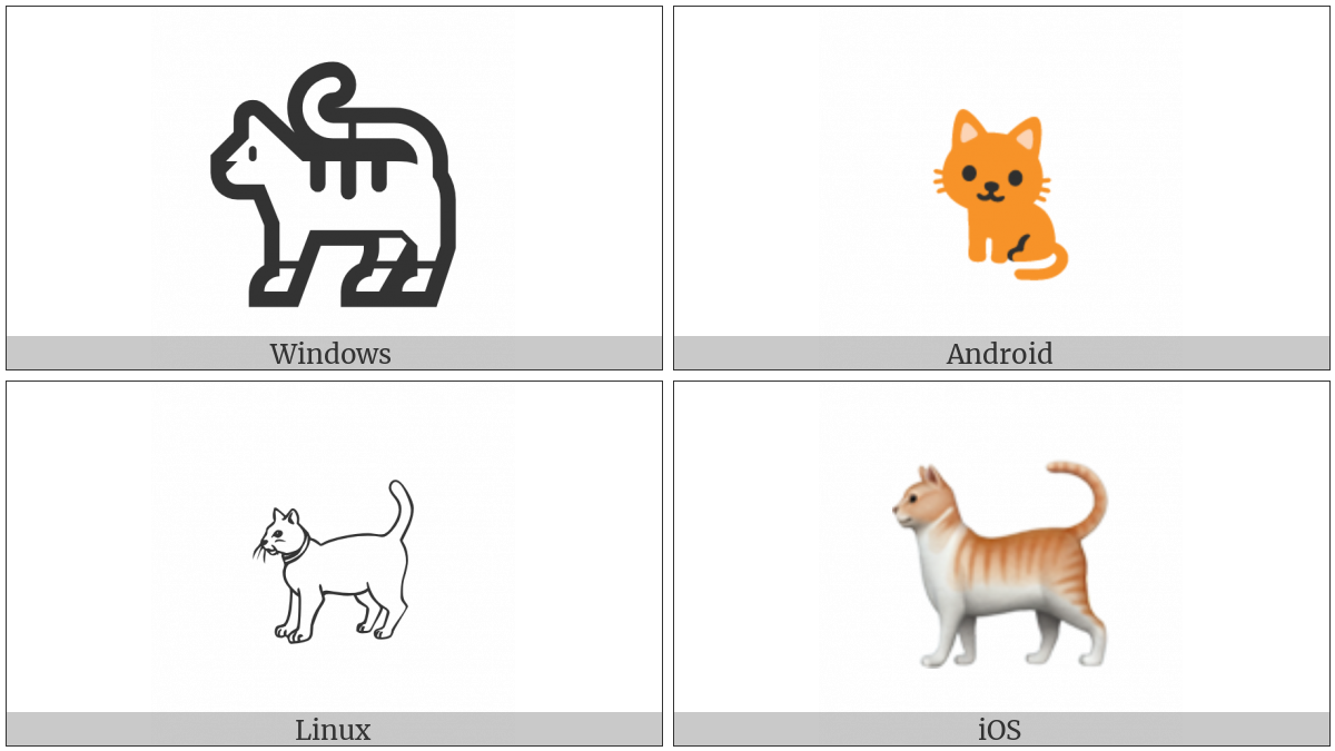 Cat on various operating systems