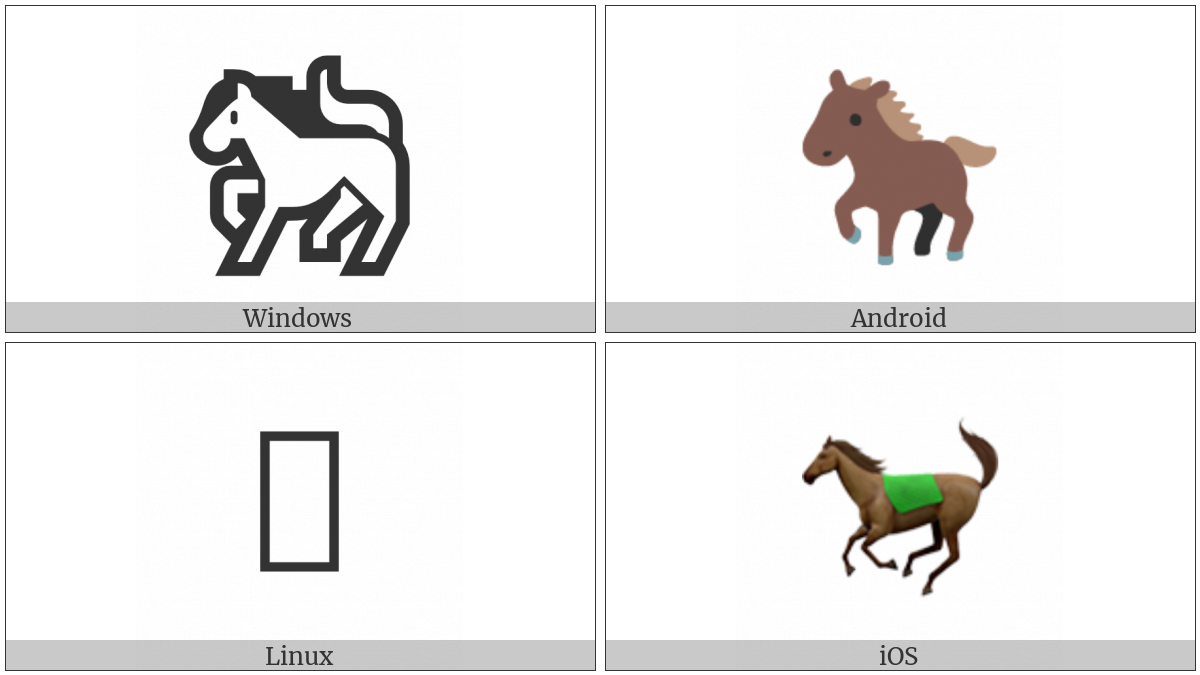 Horse on various operating systems