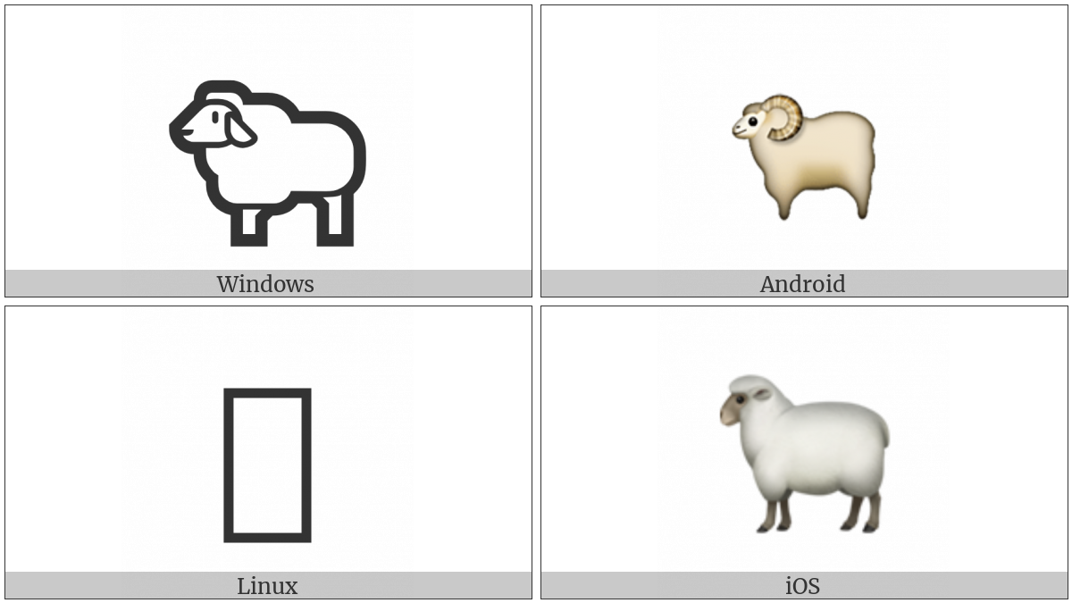 Sheep on various operating systems