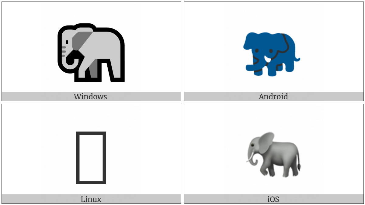 Elephant on various operating systems