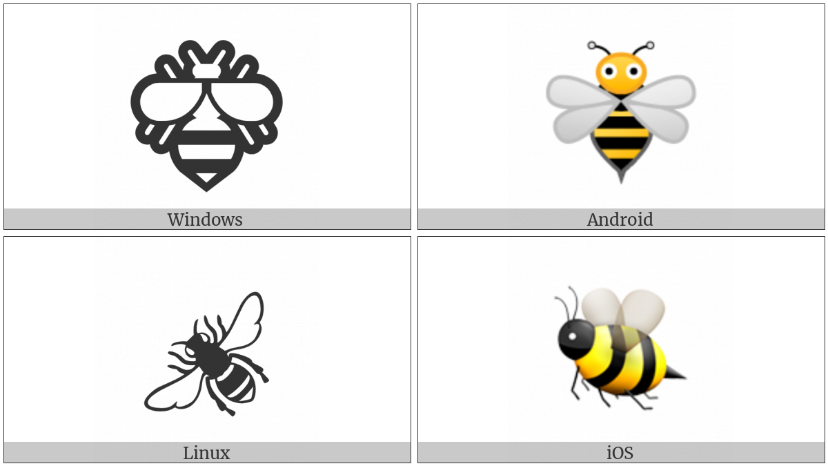 Honeybee on various operating systems