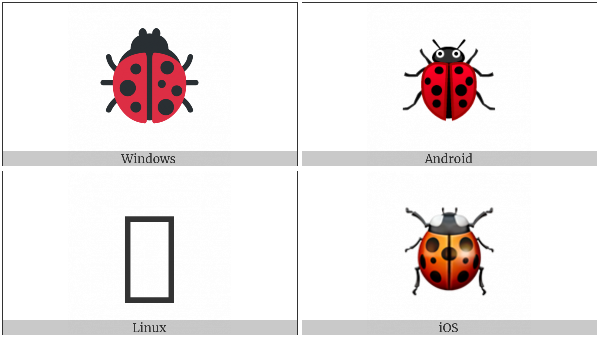 Lady Beetle on various operating systems