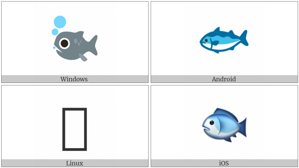 Fish on various operating systems