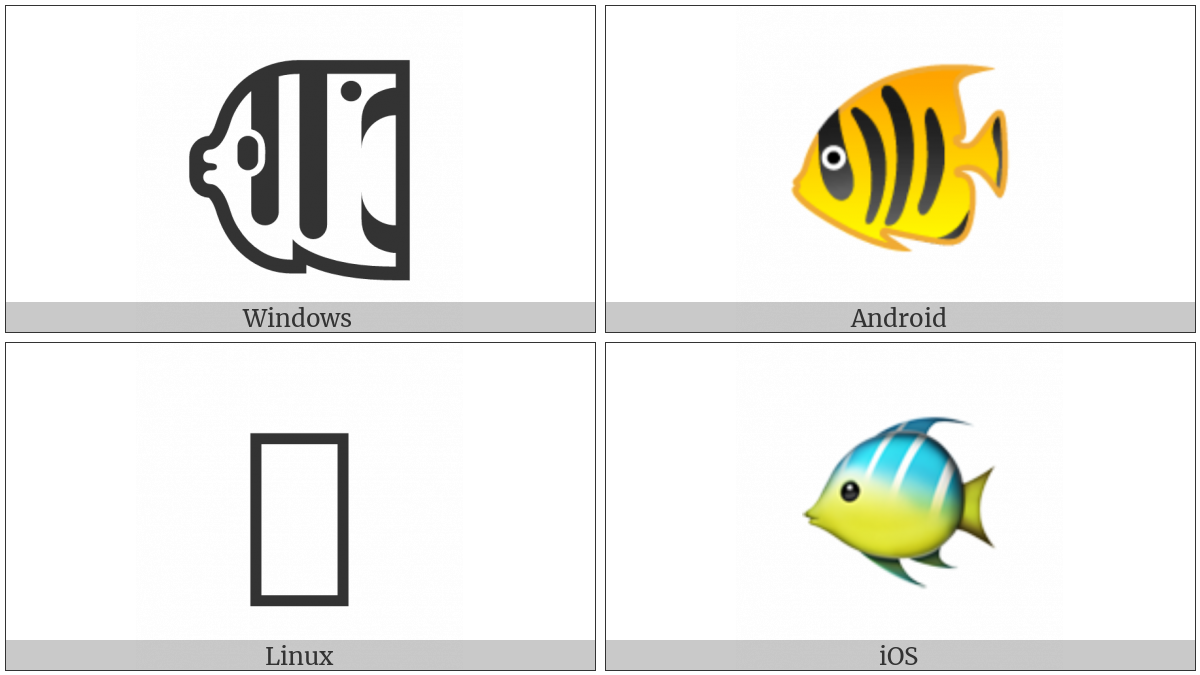 Tropical Fish on various operating systems