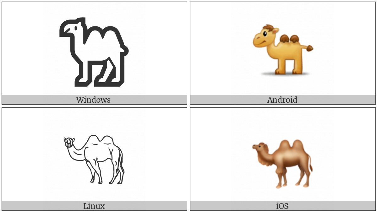 Bactrian Camel on various operating systems