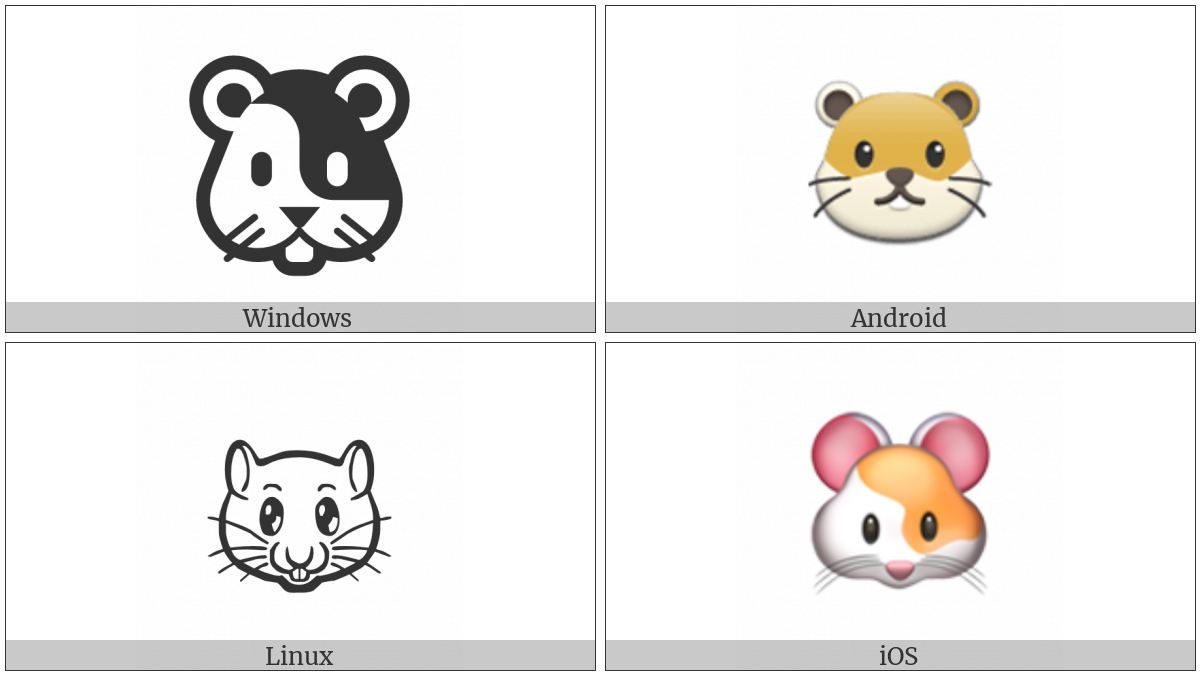 Hamster Face on various operating systems
