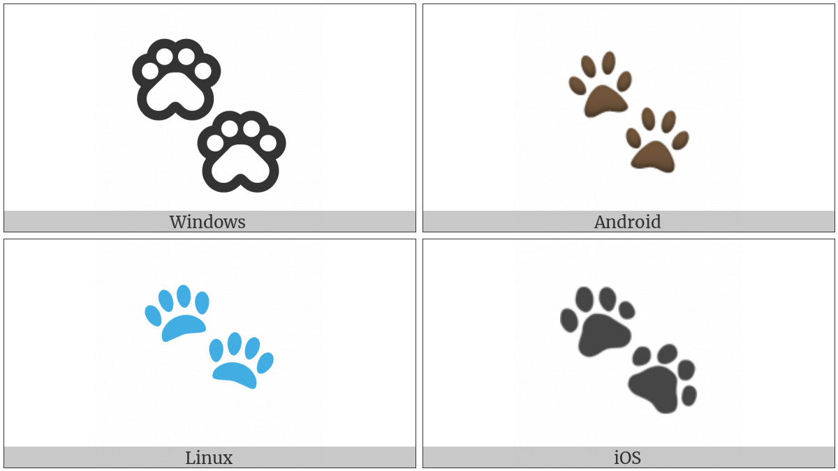Paw Prints on various operating systems
