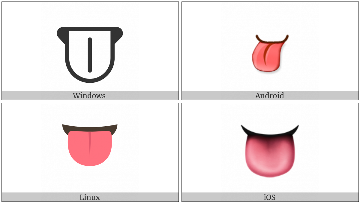 Tongue on various operating systems