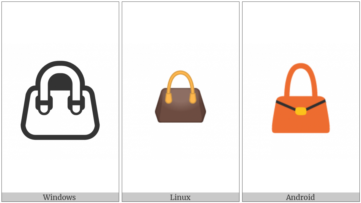 Handbag on various operating systems
