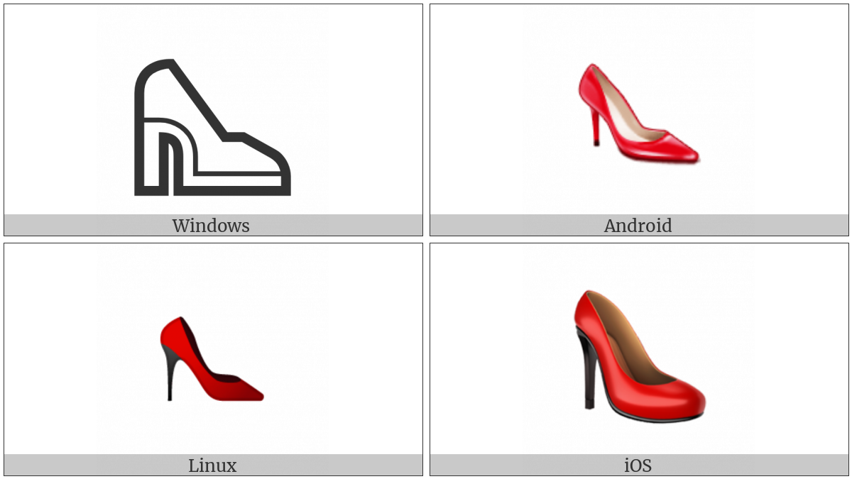 High-Heeled Shoe on various operating systems