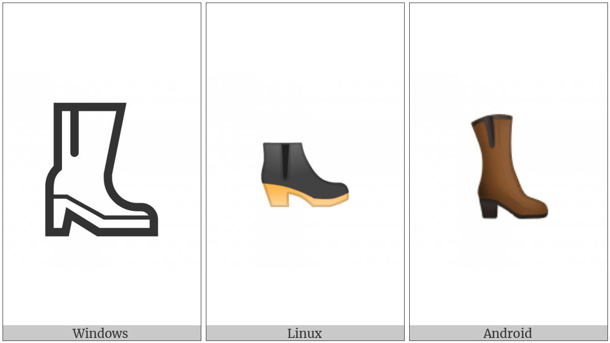 Womans Boots on various operating systems