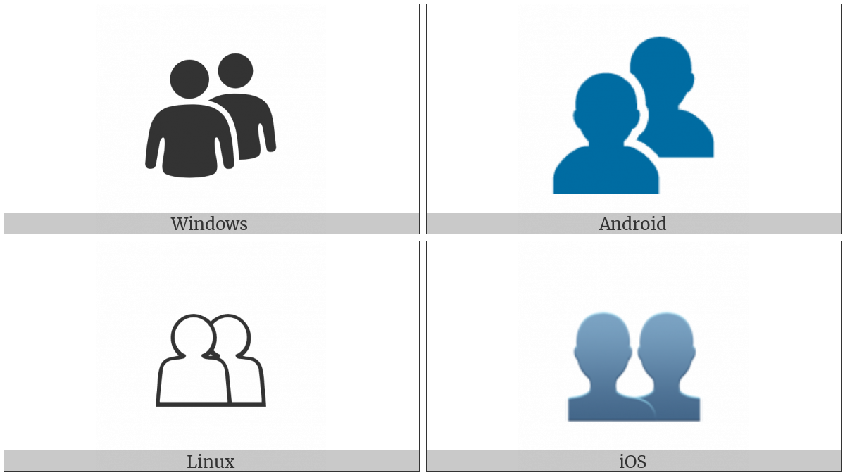 Busts In Silhouette on various operating systems
