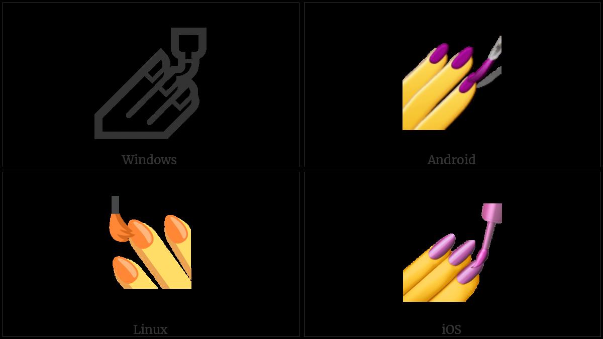 Nail Polish on various operating systems