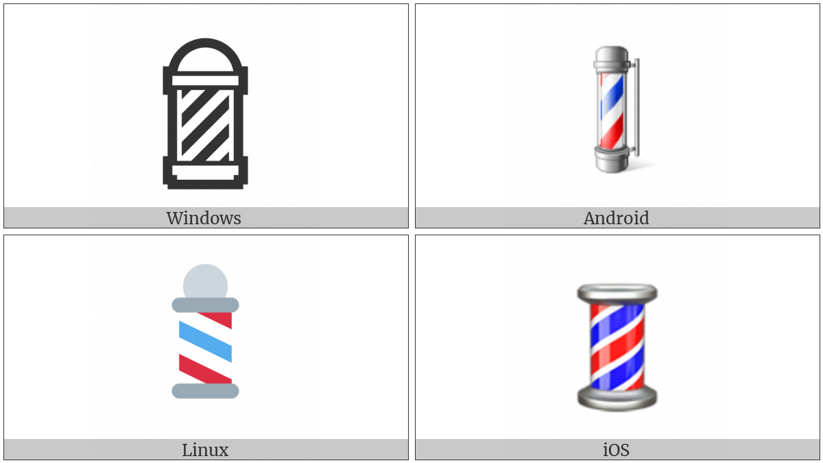Barber Pole on various operating systems