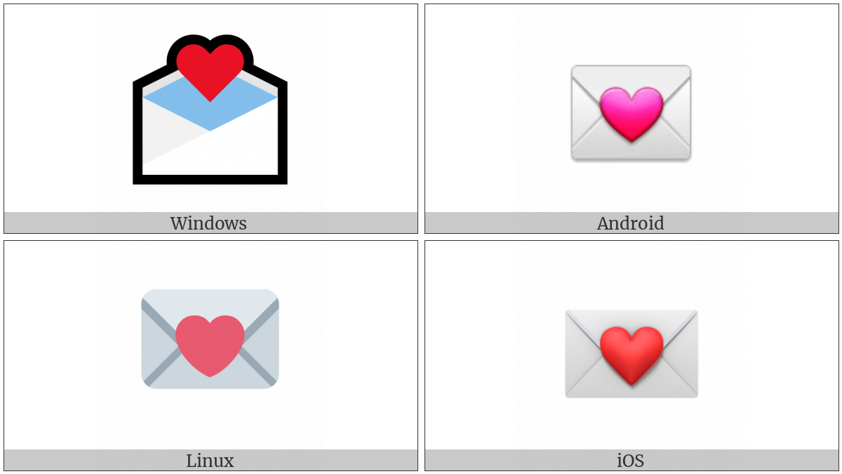 Love Letter on various operating systems
