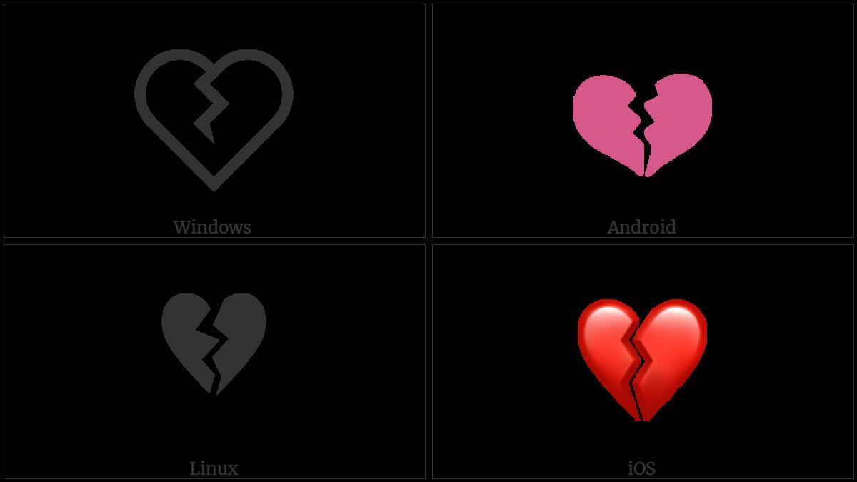 Broken Heart Utf 8 Icons
