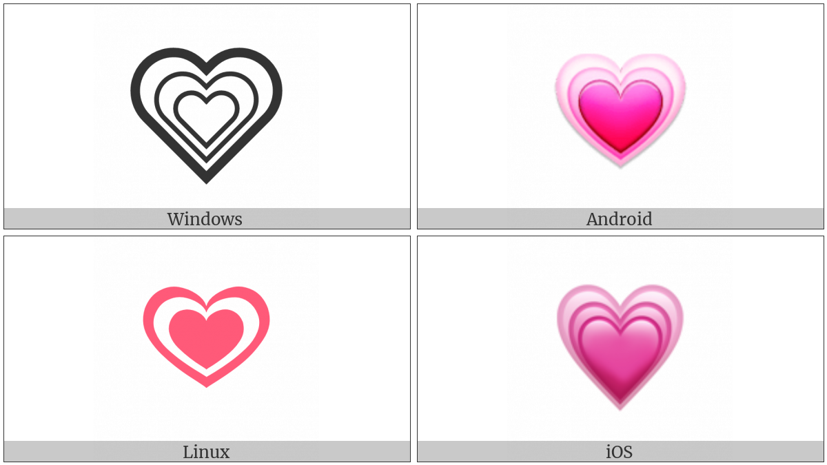 Growing Heart Utf 8 Icons