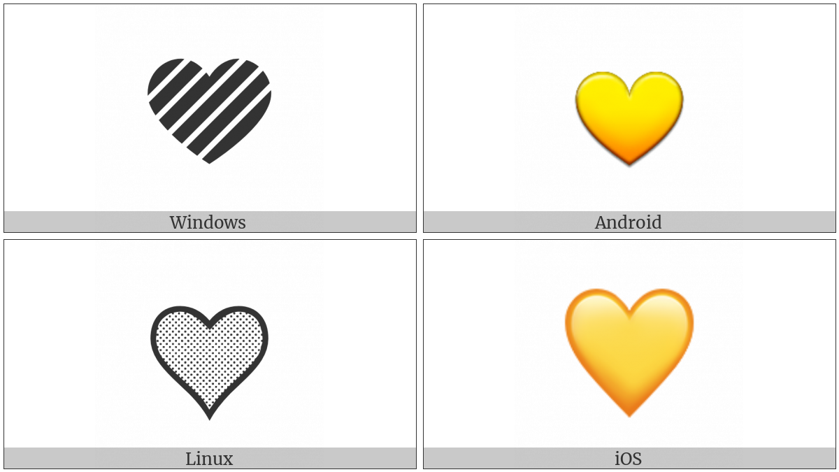 Yellow Heart Utf 8 Icons