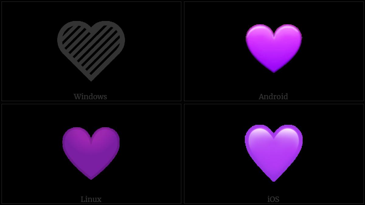 Purple Heart Utf 8 Icons
