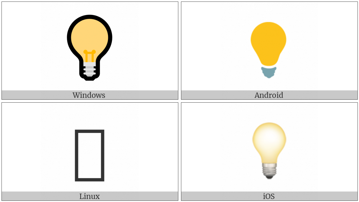 Electric Light Bulb Utf 8 Icons