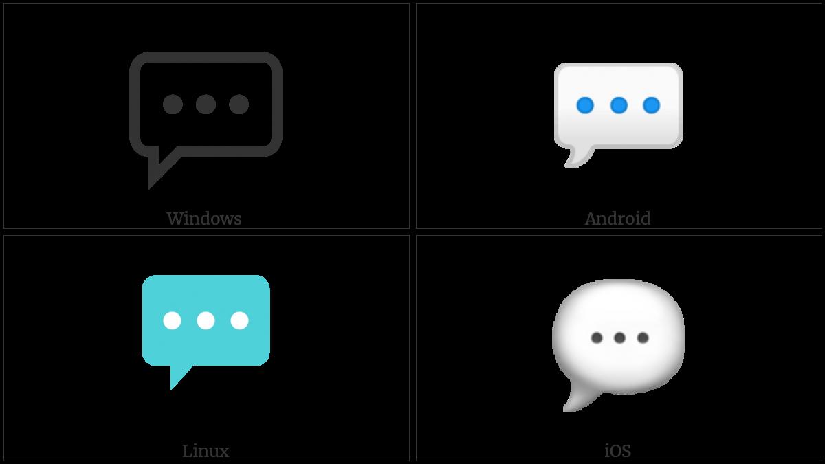 Speech Balloon on various operating systems