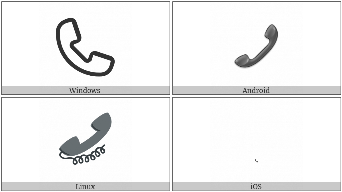 Telephone Receiver on various operating systems