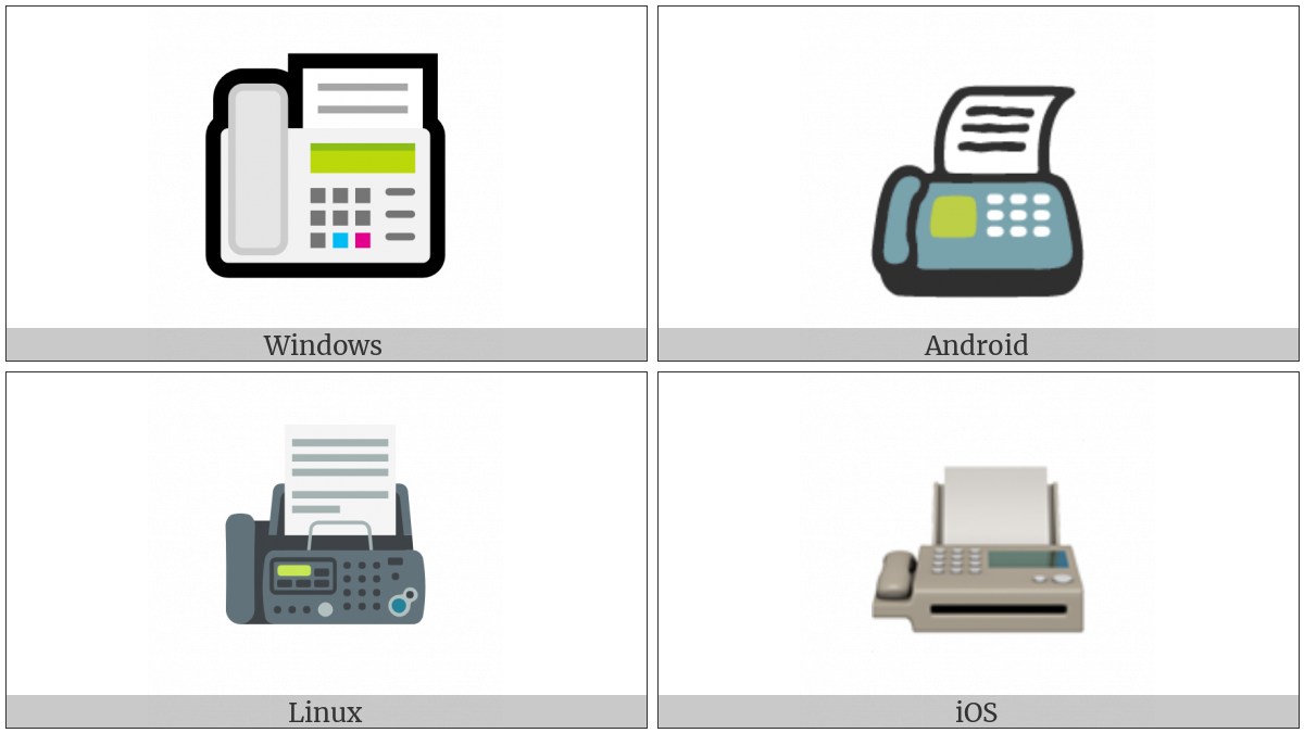 Fax Machine on various operating systems