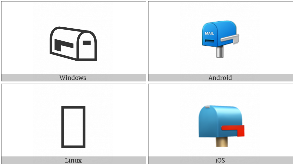 CLOSED MAILBOX WITH LOWERED FLAG UTF8 character UTF8 Icons