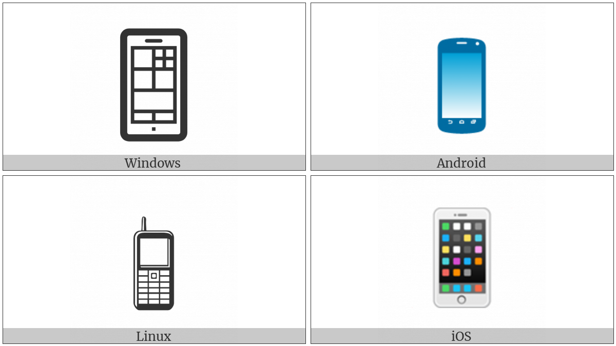 Mobile Phone Utf 8 Icons