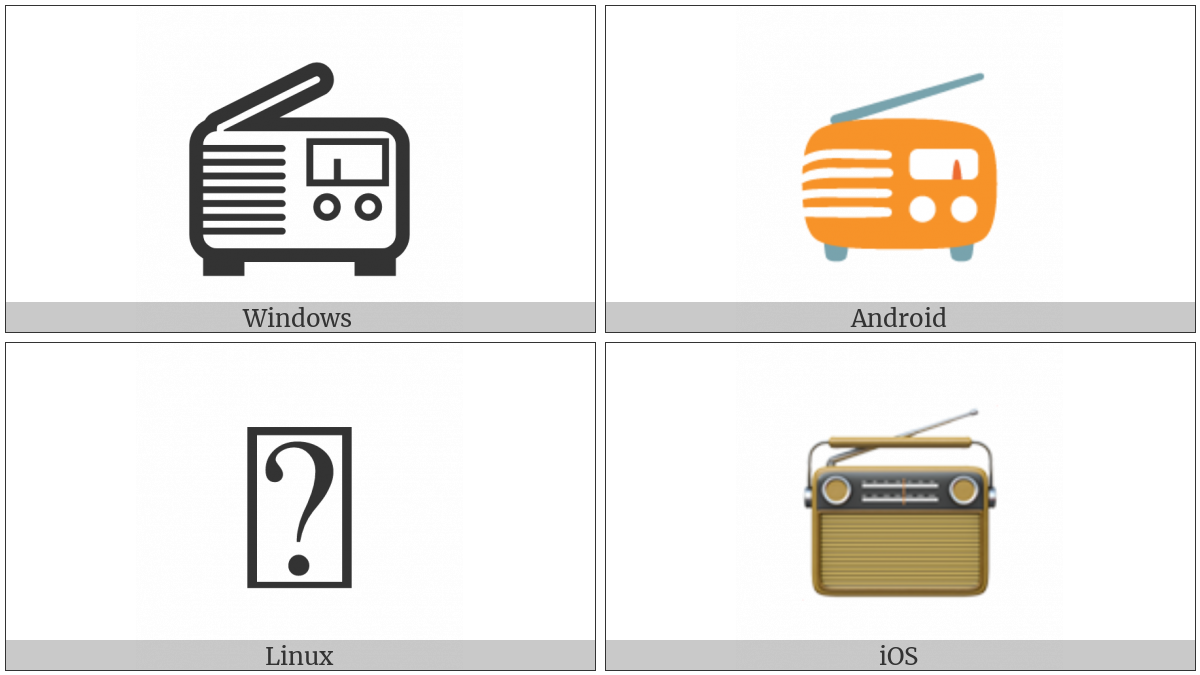 Radio on various operating systems