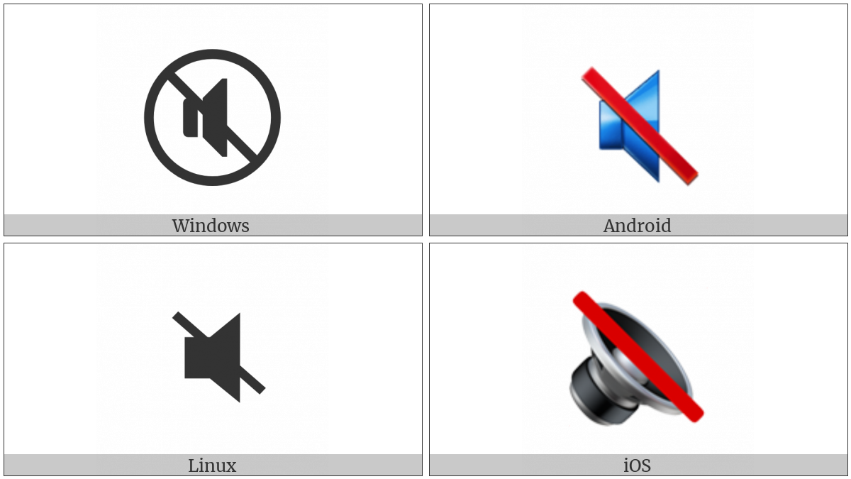 Speaker With Cancellation Stroke on various operating systems
