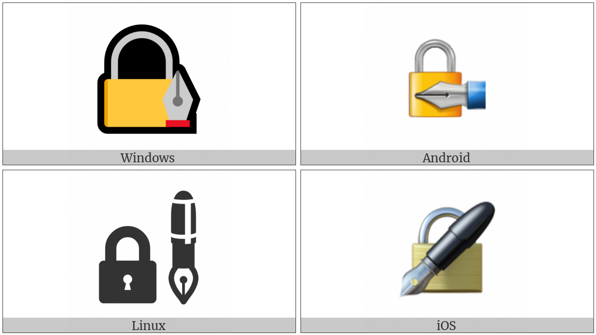 Lock With Ink Pen on various operating systems