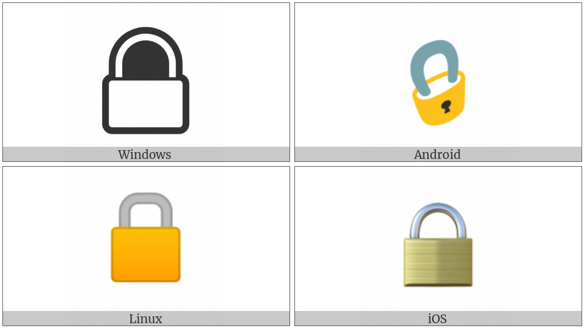 Lock on various operating systems